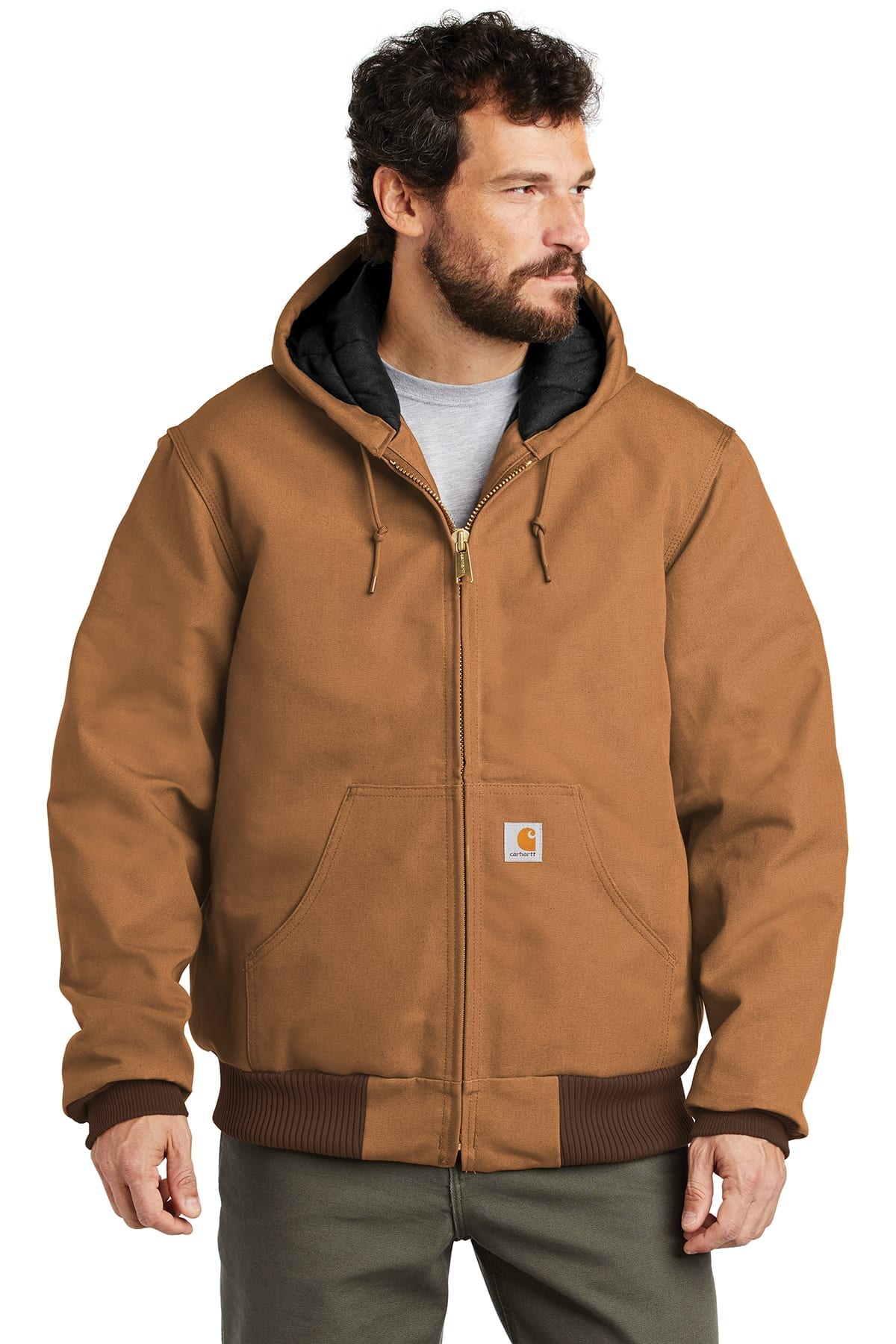 Details about  /Carhartt Men/'s Big /& Tall Quilted Flannel Lined Duck Active Jac